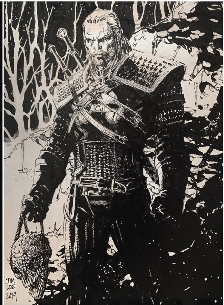 The Witcher Henry Cavill Agrade Desenho De Jim Lee Os Geeksonz